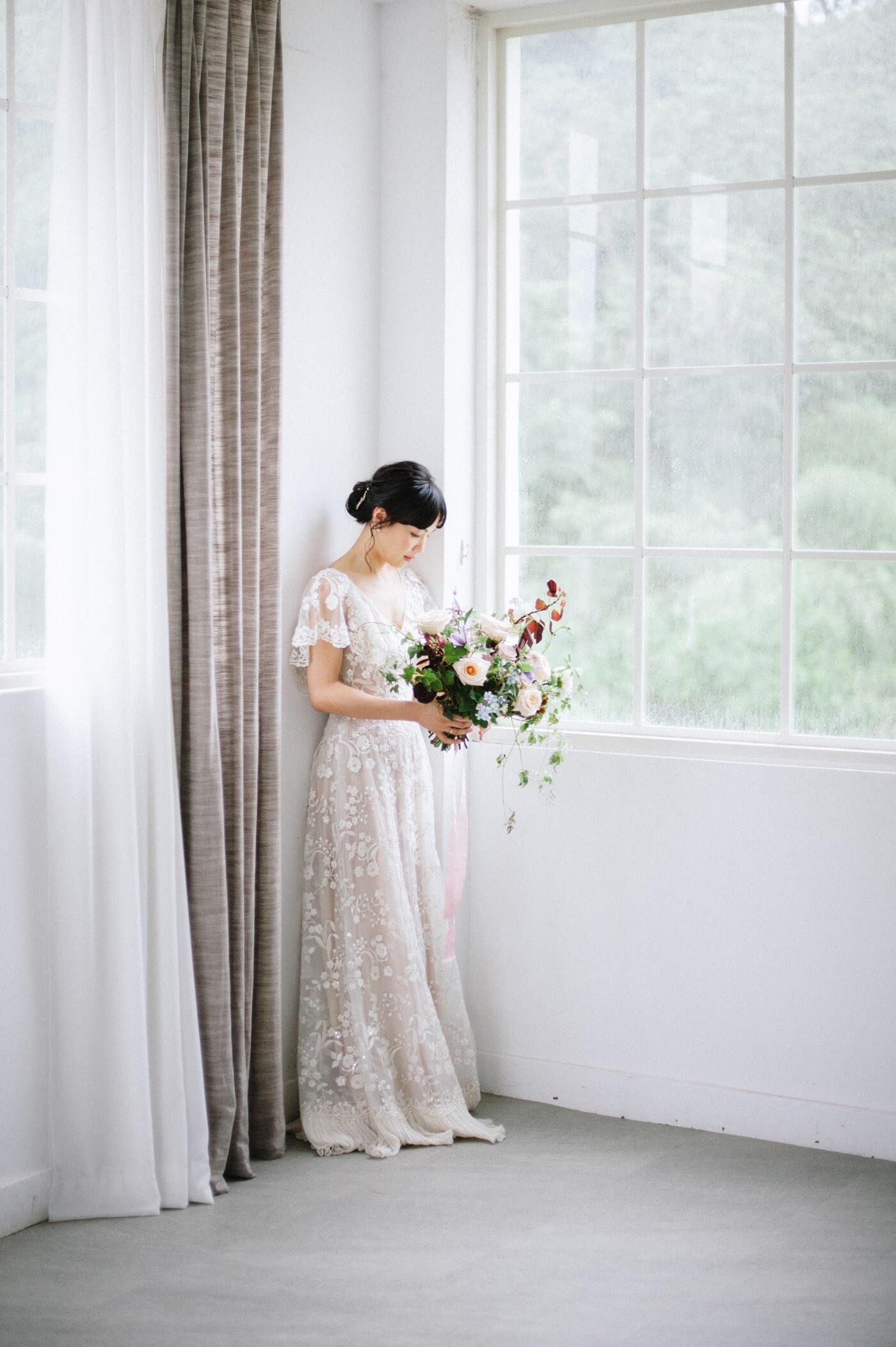 十週年婚紗 婚紗 捧花 唯諾禮服婚紗