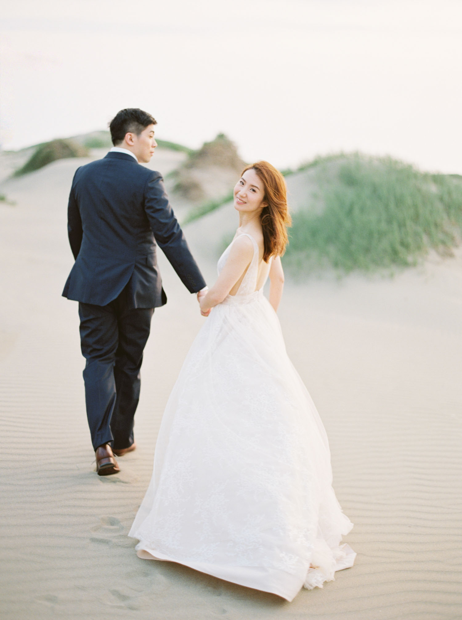 沙漠婚紗-海灘-逆光-底片-Fine Art