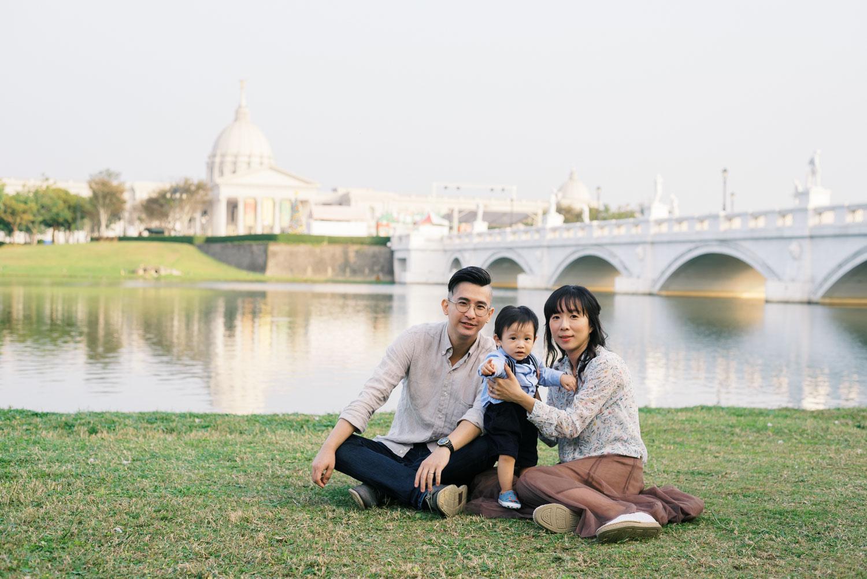 台南奇美博物館-全家福-親子家庭照-底片