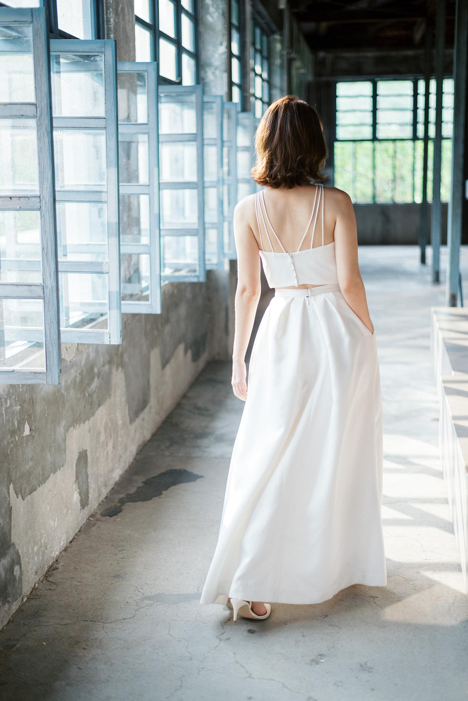大溪老茶廠婚紗-吉兒梁-新娘捧花-美式婚紗-唯諾法式