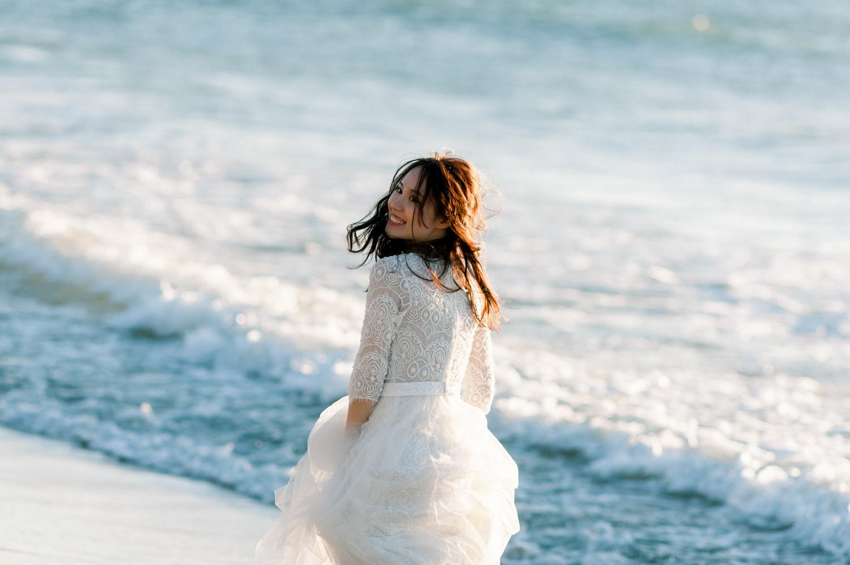 台北絕美婚紗景點路線-麟山鼻海邊